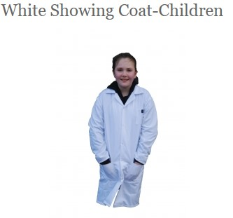 White Showing Coat Pic Child