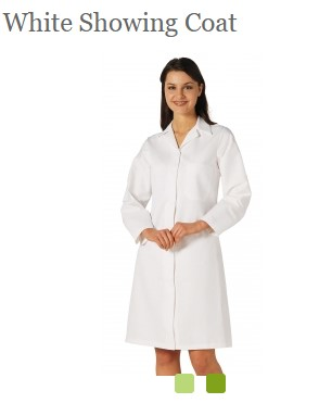 White Showing Coat Pic Female